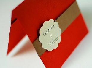 Invitatii de nunta handmade cu buzunar