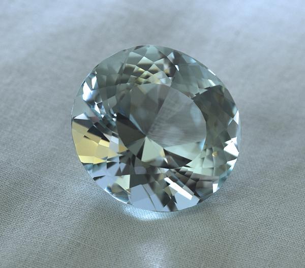 Aquamarin piatra semipretioasa pentru inelul de logodna